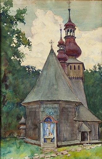 Aleksander Augustynowicz - Image: Aleksander Augustynowicz Kościół w Rabce 1915