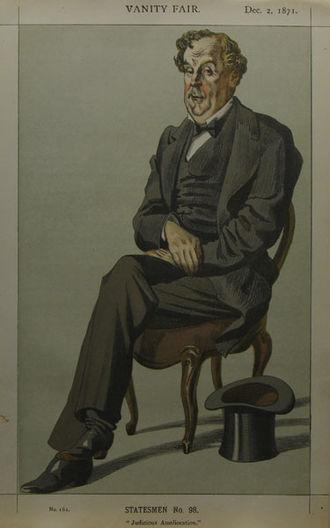 "Alexander Baillie-Cochrane, 1st Baron Lamington - ""Judicious Amelioration"" Baillie-Cochrane as caricatured by James Tissot in Vanity Fair, December 1871"