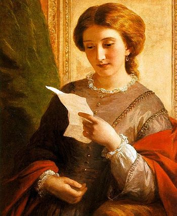 "English: ""Girl reading a letter"""