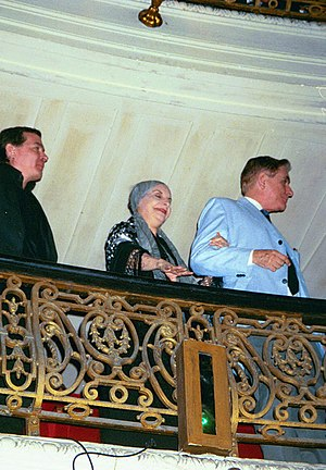 Gran Teatro de La Habana - Alicia Alonso, at 82 years old, attending a performance of Swan Lake in El Gran Teatro in Havana, April 2003.