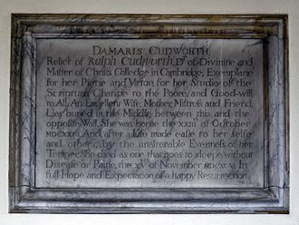 Ralph Cudworth - Memorial to Damaris Cudworth