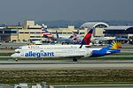 Allegiant N414NV at LAX arriving from PVU (24102157619).jpg