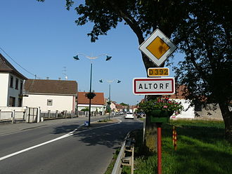 Altorf - Entrance to the village of Altorf