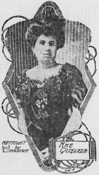 Gonzalo de Quesada y Aróstegui - Angelina Miranda Quesada, his wife