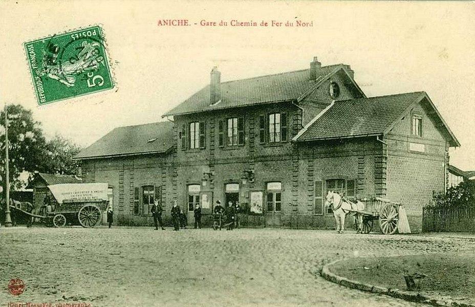 Gare d'Aniche, Nord, Nord-Pas-de-Calais, France.
