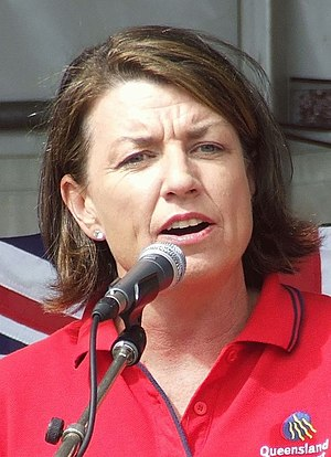 Premier of Queensland Anna Bligh at Labour Day...