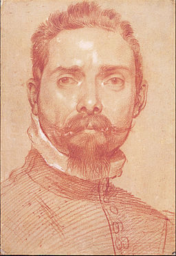 Annibale Carracci - Male Portrait (The Lutenist Mascheroni), c. 1593-1594 - Google Art Project