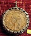 Anonimo polacco, med. di jan zamoyski, 1592, legno con cornice in argento.JPG