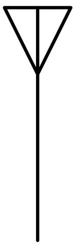 Electronic symbol for an antenna AntennaSymbol.png