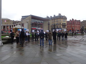 Human rights in Pakistan - Anti-Pakistani blasphemy law protest in Bradford, England (2014).