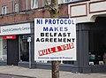 Anti NI Protocol poster in Larne, March 2021.jpg