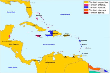 The Antilles in 1790. Antilhas - Periode coloniau vers 1790.png