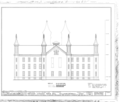 Antioch College, Main Hall, Livermore Street and North College Avenue, Yellow Springs, Greene County, OH HABS OHIO,29-YEL,1A- (sheet 3 of 5).png