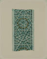 Antiquities of Samarkand. Tomb of the Saint Kusam-ibn-Abbas (Shah-i Zindah) and Adjacent Mausoleums. Mausoleum of Sha Arap. Sections of Detail on the Facade WDL3925.png