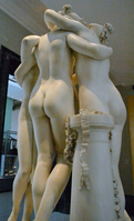Antonio Canova (1757-1822) - The Three Graces, Woburn Abbey version (1814-1817) back left (grainy), Victoria and Albert Museum, August 2013 (11059652675).png