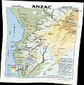 Anzac Cove region topographic battlefield map H.E.C. Robinson 1916 (georeferenced).jpg