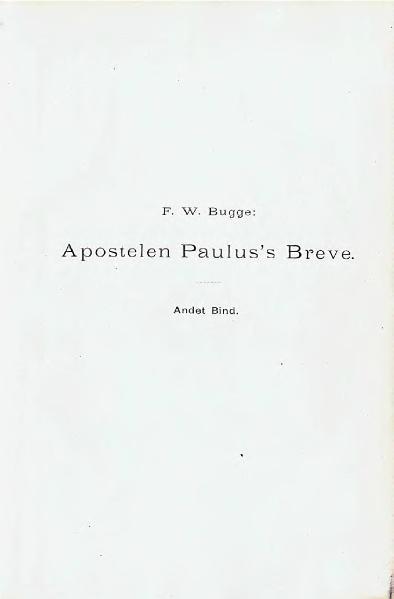File:Apostelen paulus's breve, andet bind.djvu