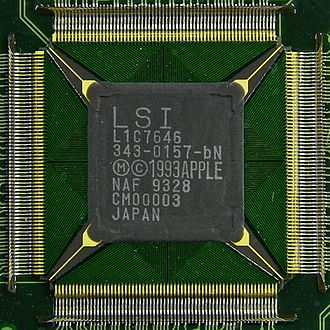 Apple Newton - The custom ASIC chip inside the original Apple Newton H1000