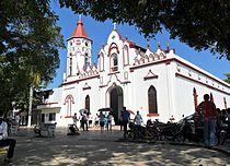 Aracataca's church where Garcia Marquez was baptized.JPG