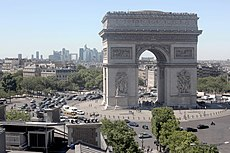 Arc de Triomphe de l'Étoile from the Publicis Drugstore, 30 June 2015.jpg