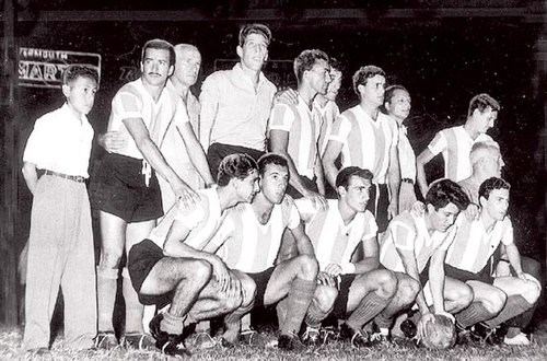 The Carasucias or dirty faces, a name that was known for Argentina who won the 1957 South American Championship held in Peru. Argentina Copa America 1957.jpg