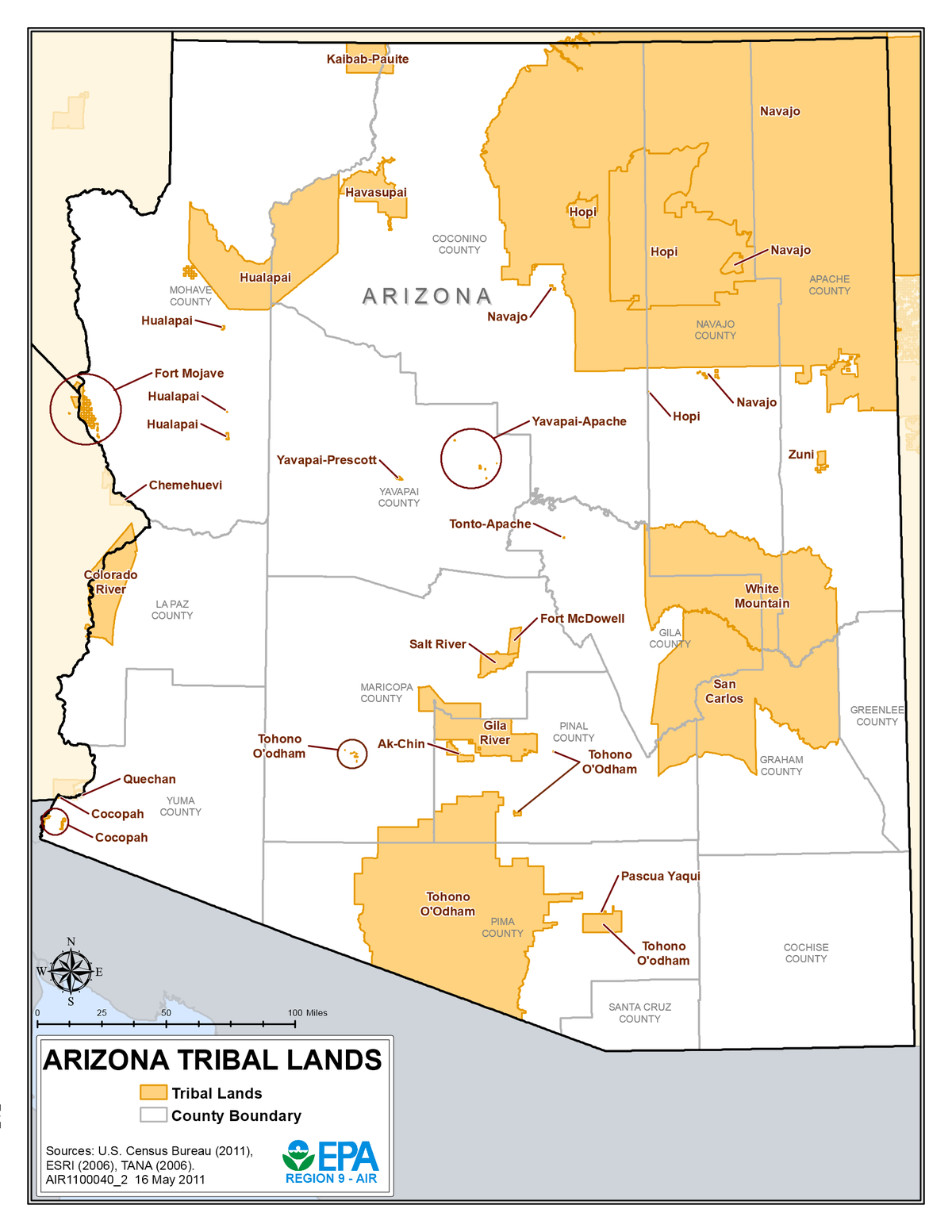 how many native american reservations are in arizona