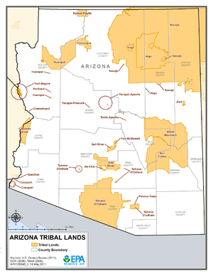 List of Indian reservations in Arizona