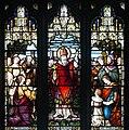 Armagh Roman Catholic Cathedral of St. Patrick East Aisle Window 04 St. Patrick preaching at Tara Detail Upper Scene 2013 09 24.jpg
