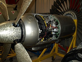 Armstrong Siddeley Mamba - Mamba and propeller from the Apollo airliner