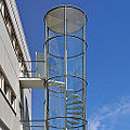 Arne jacobsen, fire escape stairs, NOVO, copenhagen 1954-1955 (4759895666).jpg