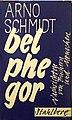 Arno Schmidt - Belphegor. Nachrichten von Büchern und Menschen,1961.jpg