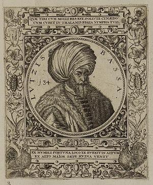 Lütfi Pasha - An engraving of Lütfi Pasha by Johann Theodor de Bry, 1590s