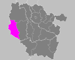 Location of Bar-le-Duc in Lorraine