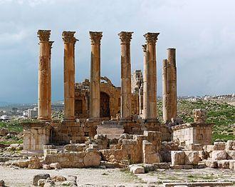 Temple of Artemis, Jerash - The Jerash Temple of Artemis of Jordan