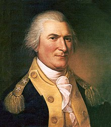 A white-haired man wearing a navy jacket with gold lapels and epaulets and a high-collared white shirt
