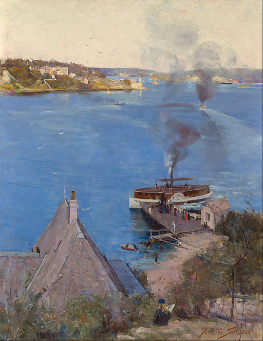 From McMahon's Point - Fare One Penny by Arthur Streeton