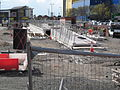 Ashton-under-Lyne Metrolink station, under construction.JPG