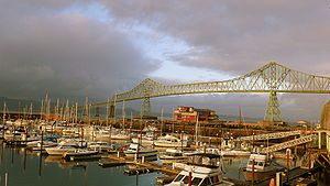 Astoria, Oregon - The Astoria–Megler Bridge.