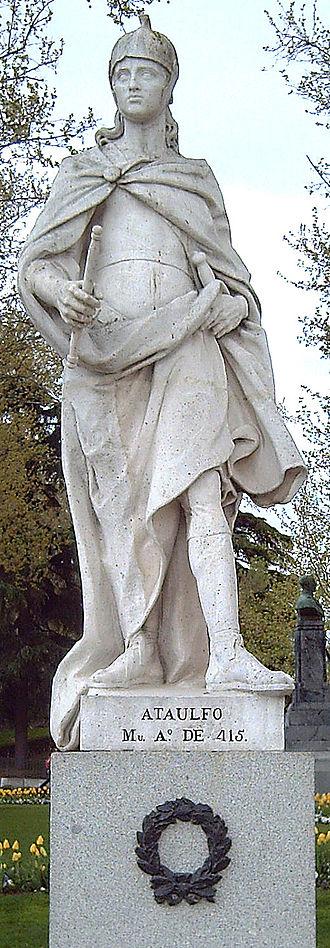 Athaulf - Statue in Madrid, by Felipe de Castro, 1750-53