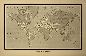 A map showing the supposed extent of the Atlan...