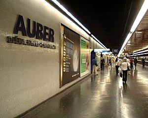 Auber Station - Platform in 2005.