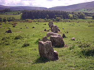 Aughlish - Early archaeoastronomy began by surveying alignments of Megalithic stones in the British Isles and sites like Aughlish in County Londonderry in an attempt to find statistical patterns
