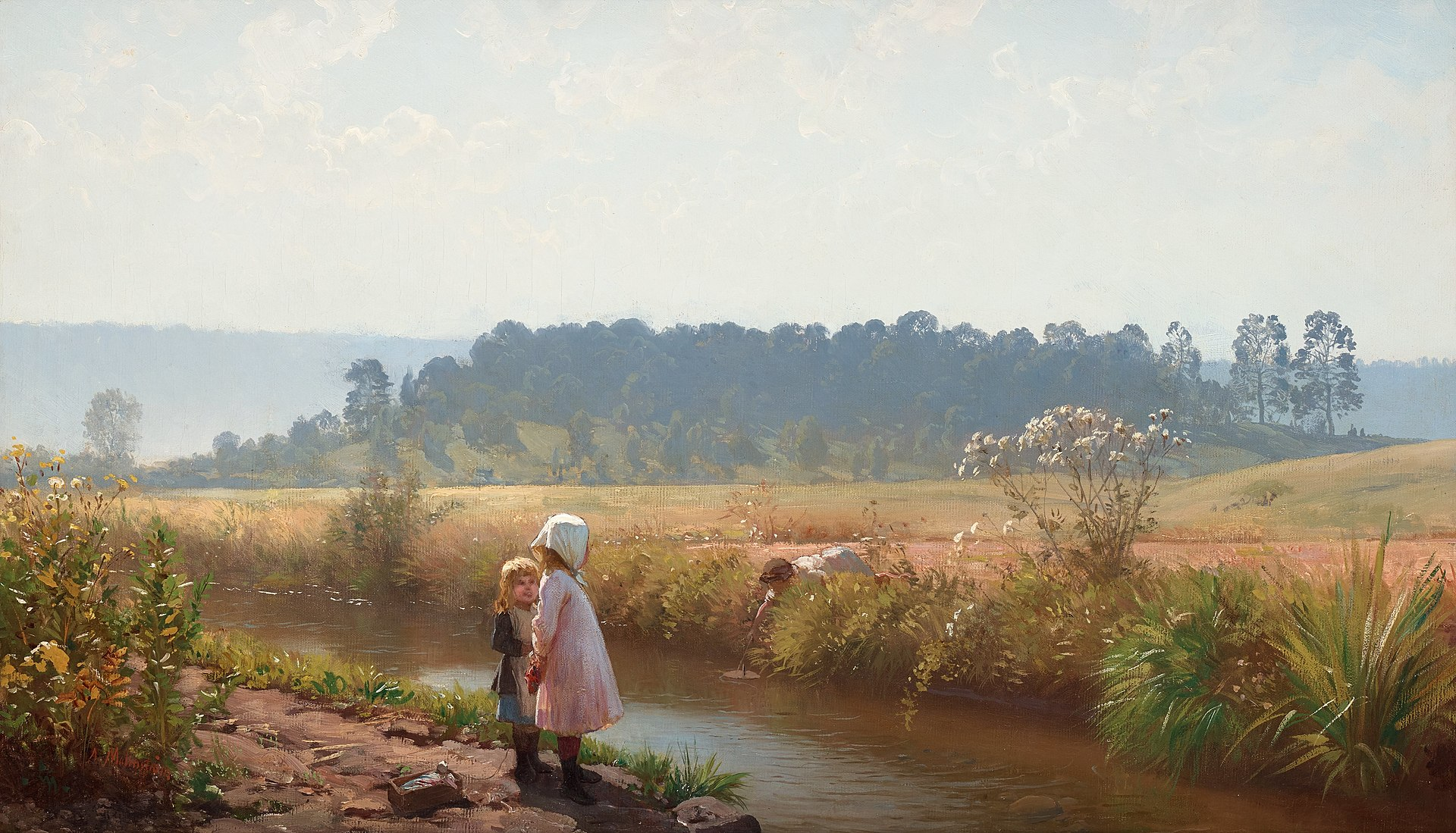August Malmström - Barn lekande vid ån.jpg