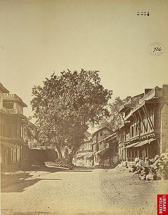 History of Aurangabad, Maharashtra - Street View Aurangabad 1868