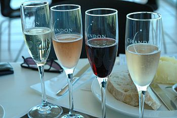Assortment of wine from Domaine Chandon in Yar...