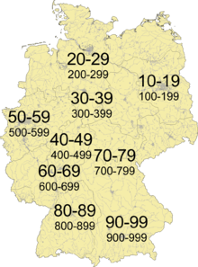 pattern of autobahns 10 to 999