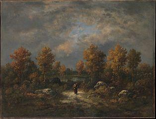 Autumn: The Woodland Pond