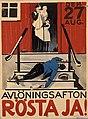 Avlöningsafton - Rösta ja! 1922.jpg