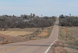 Ayr, seen from the west along Nebraska Highway 74