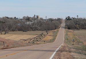 Ayr, Nebraska - Ayr, seen from the west along Nebraska Highway 74